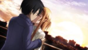 CG Asuna Kiss SunsetFragment